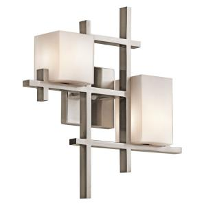 City Contemporary 2 Light Wall Sconce