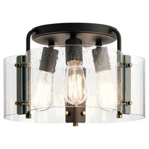 Thoreau - 3 light Semi-Flush Mount - 8.5 inches tall by 14 inches wide