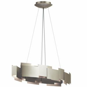 Moderne - 34.25 Inch 100W 2 LED Oval Pendant