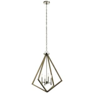 Deryn - 4 light Medium Chandelier - with Lodge/Country/Rustic inspirations - 30.25 inches tall by 24.25 inches wide