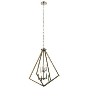 Deryn - 8 light 2-Tier Chandelier - with Lodge/Country/Rustic inspirations - 36.5 inches tall by 29.75 inches wide