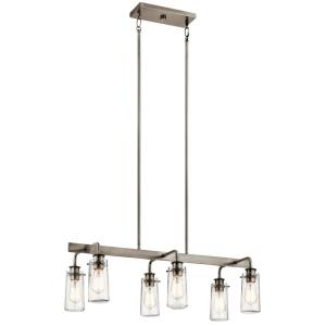 Braelyn - Six Light Linear Chandelier