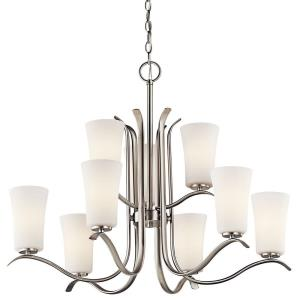 Armida - 32.5 Inch 90W 9 LED 2-Tier Chandelier