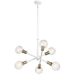 Armstrong - 6 Light Small Chandelier - with Contemporary inspirations - 27.75 inches tall by 20 inches wide