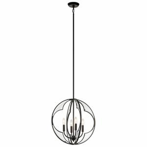 Montavello - 4 light Small Chandelier - with Transitional inspirations - 19.75 inches tall by 18.75 inches wide