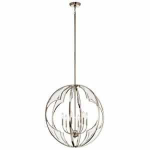 Montavello - 6 light Medium Chandelier - with Transitional inspirations - 27 inches tall by 26 inches wide