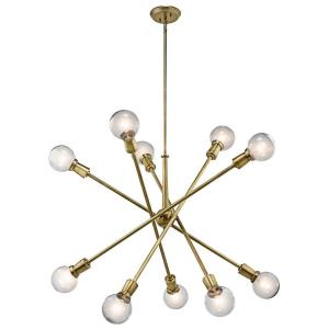Armstrong - 10 Light Large Chandelier - with Contemporary inspirations - 53.5 inches tall by 47 inches wide
