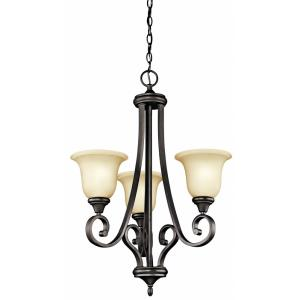 Monroe - 29.5 Inch 3 Light Small Chandelier