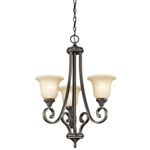 "Monroe - 23"" 27W 3 LED Small Chandelier"