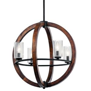 Grand Bank - 4 Light Small Chandelier - with Lodge/Country/Rustic inspirations - 21.5 inches tall by 20 inches wide