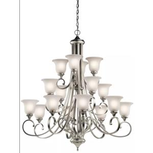 "Monroe - 45"" 144W 16 LED 3-Tier Chandelier"