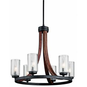 Grand Bank - 6 Light Medium Chandelier - with Lodge/Country/Rustic inspirations - 22.5 inches tall by 25 inches wide