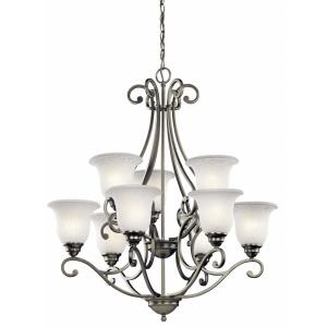 Camerena - 9 Light Chandelier - with Traditional inspirations - 34.5 inches tall by 30 inches wide