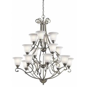 Camerena - 16 Light Multi Tier Chandelier - with Traditional inspirations - 48.25 inches tall by 45 inches wide