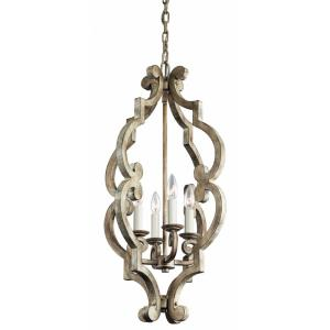 Hayman Bay - 4 light Foyer - with Lodge/Country/Rustic inspirations - 29.75 inches tall by 16.25 inches wide