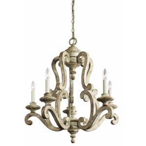 Hayman Bay - 5 light Chandelier - with Lodge/Country/Rustic inspirations - 29.75 inches tall by 28 inches wide