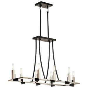 Bensimone - Eight Light Linear Chandelier