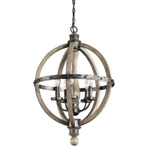 Evan - 5 light Small Chandelier - with Lodge/Country/Rustic inspirations - 30 inches tall by 20 inches wide