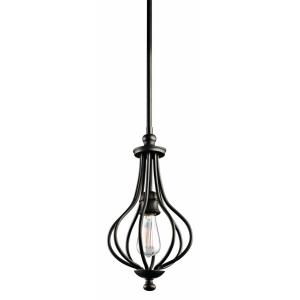 Kensington - 1 light Mini-Pendant - with Lodge/Country/Rustic inspirations - 16.25 inches tall by 8.25 inches wide