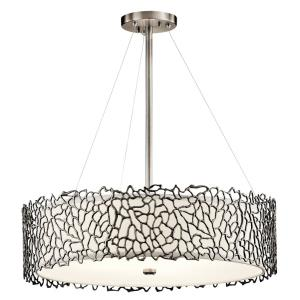 Silver Coral - 4 light Chandelier - 22 inches wide