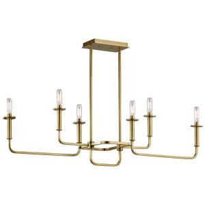 Alden - Six Light Linear Chandelier