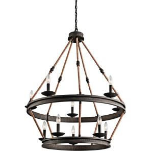 Kearn - Ten Light 2-Tier Chandelier