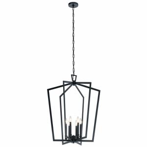 Abbotswell - 6 Light Large Foyer Pendant - with Traditional inspirations - 32.25 inches tall by 24.75 inches wide