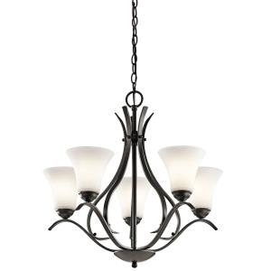 Keiran - 24.5 Inch 27W 5 LED Medium Chandelier