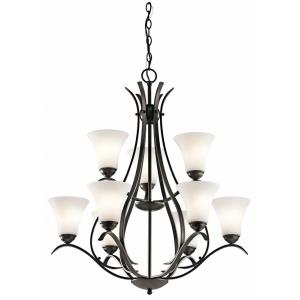 Keiran - 29 Inch 81W 9 LED 2-Tier Chandelier