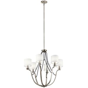 Thisbe - 6 light Medium Chandelier - 28.25 inches tall by 27.5 inches wide