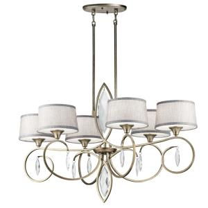 Casilda - Six Light Ovel Chandelier