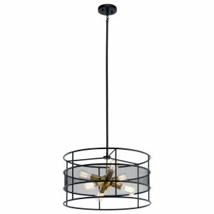 Piston - Six Light Round Chandelier/Pendant