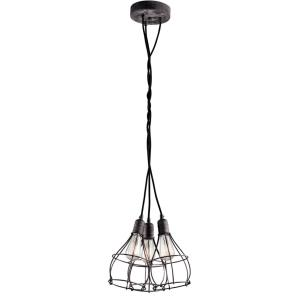 Industrial Cage - Three Light Pendant