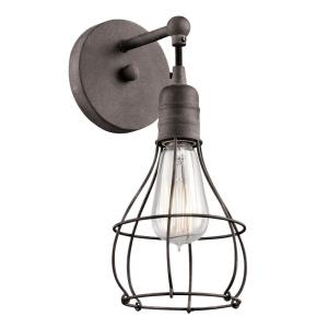 Industrial Cage - One Light Wall Sconce