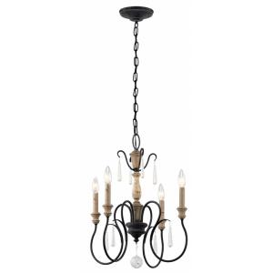 Kimberwick - 4 light Chandelier - with Lodge/Country/Rustic inspirations - 20.25 inches tall by 18 inches wide