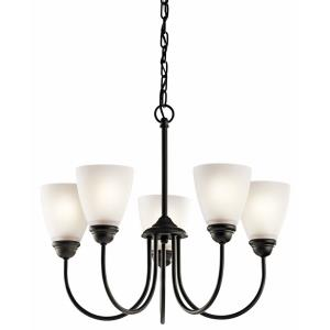 Jolie - 5 Light Chandelier - with Transitional inspirations - 18.5 inches tall by 22 inches wide