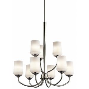Aubrey - 9 Light Large 2-Tier Chandelier - with Transitional inspirations - 31.25 inches tall by 28.75 inches wide