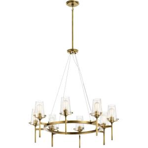 Alton - 8 light Large Chandelier - with Vintage Industrial inspirations - 36 inches tall by 38 inches wide