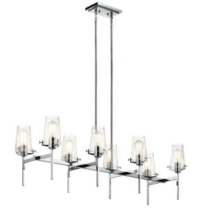 Alton - 8 light Double Linear Chandelier - with Vintage Industrial inspirations - 19 inches tall by 17 inches wide