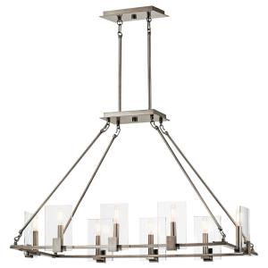 Signata - Eight Light Linear Chandelier