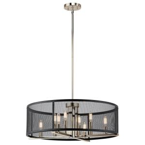 Titus - 8 light Chandelier - 9.75 inches tall by 25 inches wide