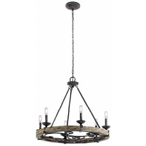 Taulbee - 6 light Round Chandelier - 25.75 inches tall by 28.5 inches wide