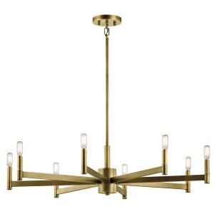 Erzo - 8 light Large Chandelier - with Soft Contemporary inspirations - 9.25 inches tall by 35.5 inches wide