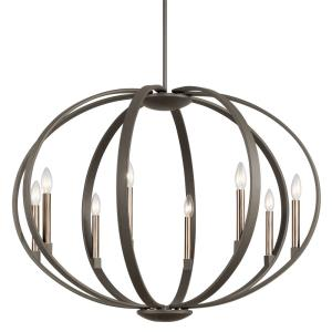 Elata - 8 light Round Chandelier - with Soft Contemporary inspirations - 26.5 inches tall by 36 inches wide