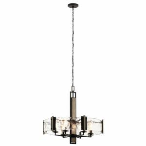 Aberdeen - 6 light Meidum Chandelier - with Lodge/Country/Rustic inspirations - 26 inches tall by 28 inches wide