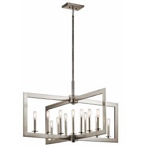 Cullen - Thirteen Light Linear Chandelier - with Soft Contemporary inspirations - 22.25 inches tall by 38.75 inches wide