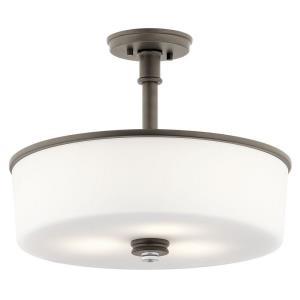 "Joelson - 17.75"" 27W 3 LED Semi-Flush Mount"