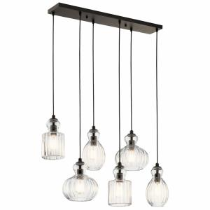 Riviera - Six Light Double Linear Pendant