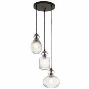 Riviera - 3 light Pendant - 18 inches wide