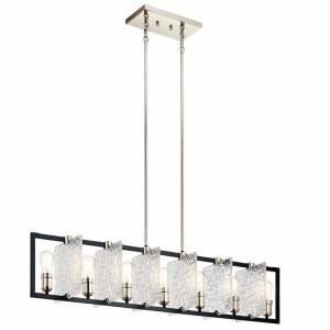 Forge - 7 light Linear Chandelier - with Vintage Industrial inspirations - 10.75 inches tall by 9 inches wide